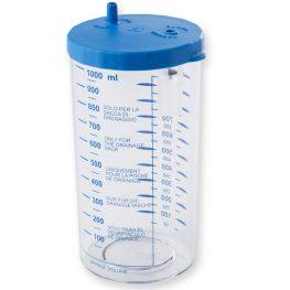 Borcan cu capac pentru aspirator chirurgical autoclabil;