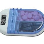 Cutie (de buzunar) cu alarmă pentru medicamente