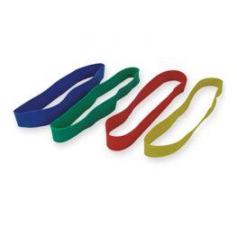 Set 4 benzi elastice de diferite intensitati din latex pentru fitness